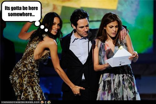 actor celeb funny paul rudd Rosario Dawson - 4515482368