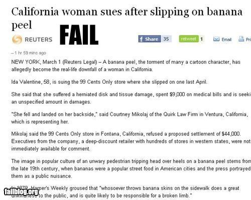 banan peel,failboat,lawsuit,oh California,only in mario kart,Probably bad News,slipped,video games IRL