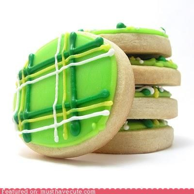 cookies epicute green icing plaid St Patrick's Day - 4515572992