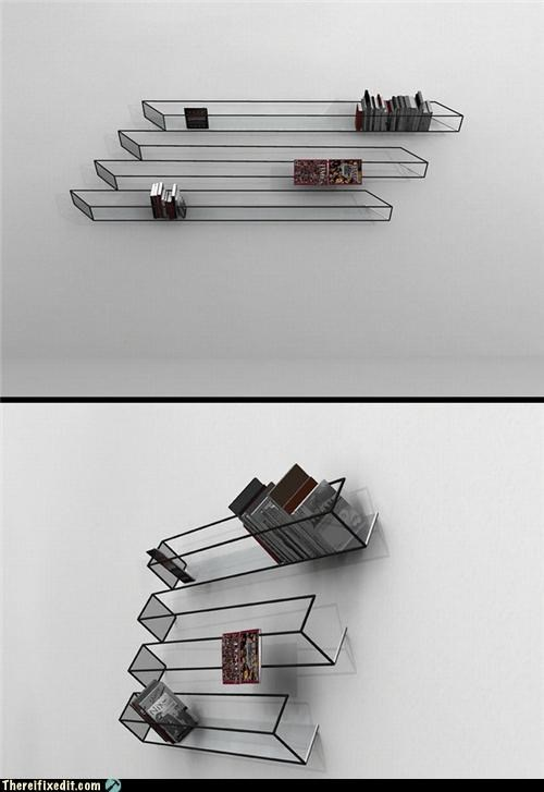 art,bookshelf,not a kludge,wtf