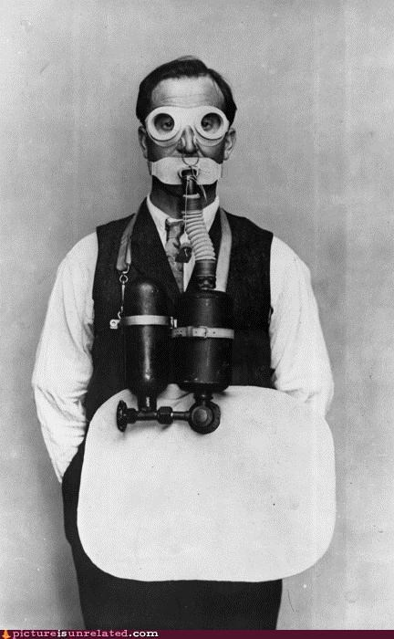 gas mask,goggles,old timey,wtf