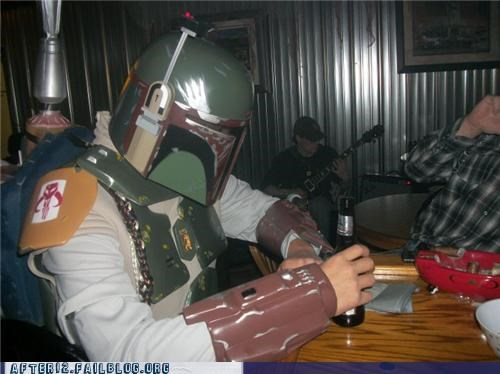 awesome bar beer boba fett clone costume star wars - 4515630592