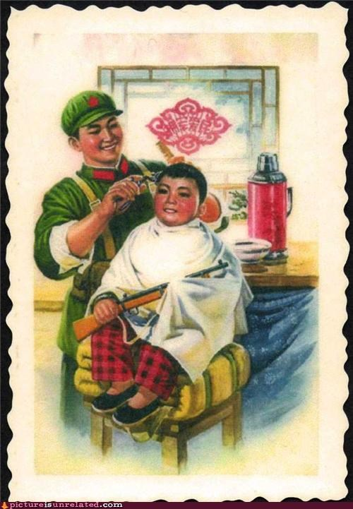 art China guns hair cut kids wtf - 4516030464