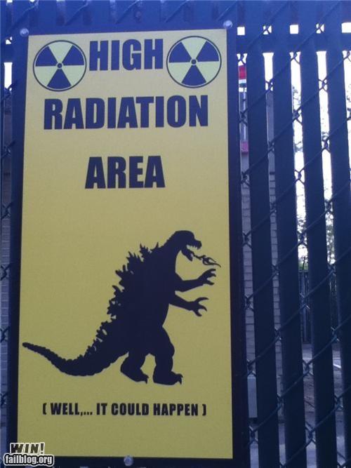 awesome at work godzilla signs - 4516125184