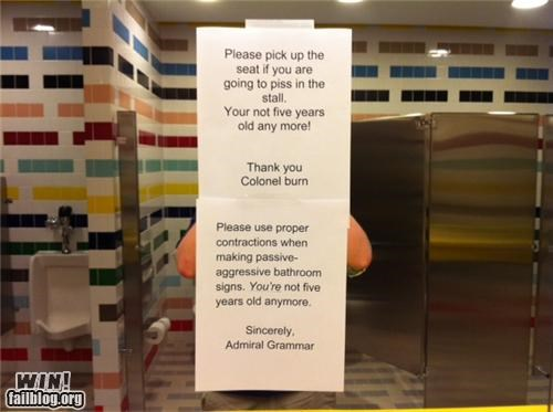 bathroom clever notes passive aggressive retort - 4516225024
