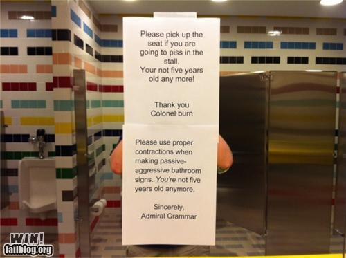 bathroom clever notes passive aggressive retort - 4516225024