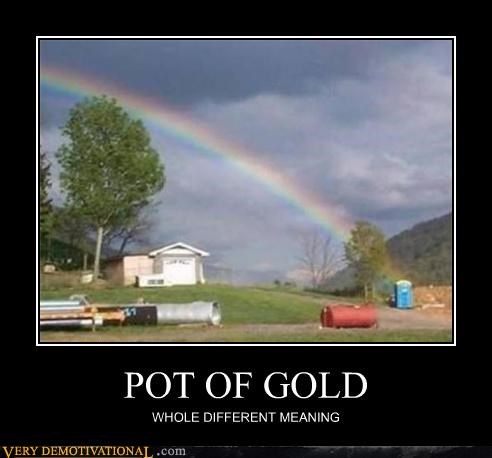pot of gold rainbow port a potty - 4516414464