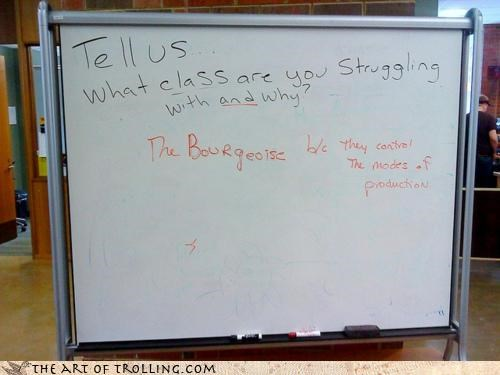 bourgeoise class IRL machinery oppression school white board - 4516614400