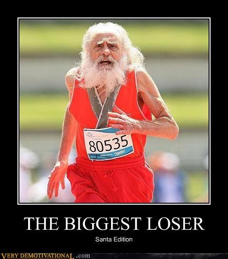 biggest loser,marathon,santa,TV,wtf