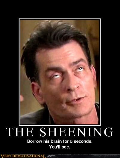Charlie Sheen high wtf