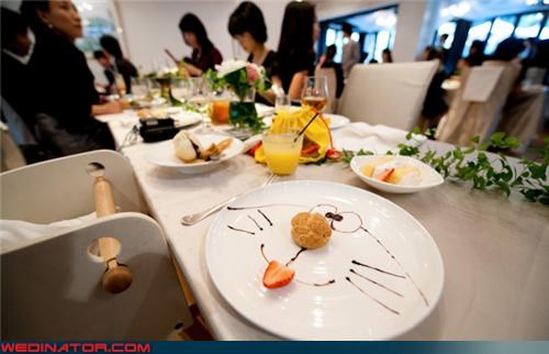 dessert doraemon food funny wedding photos kids table - 4517451520