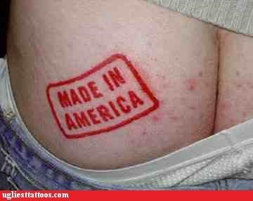 butt tats patriotism words - 4517458176