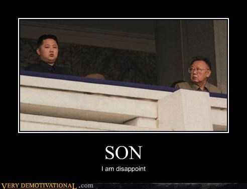 Kim Jong-Il,sad face,son