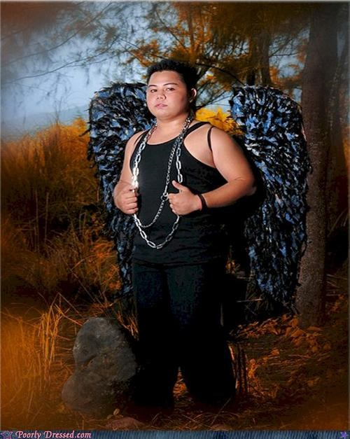 angel,big,Bling,chain,portrait,weird,wings,wtf
