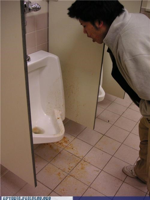 bathroom puke toilet urinal vomit