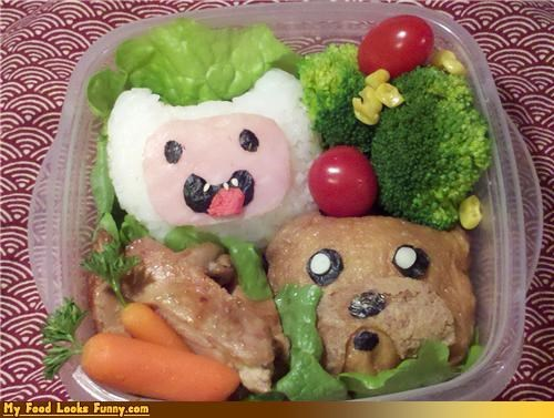adventure time,bento,cartoons,dogs,human