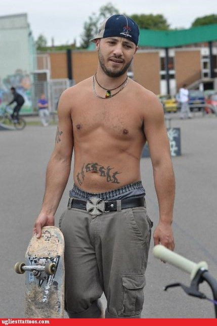 skateboarding tattoos funny