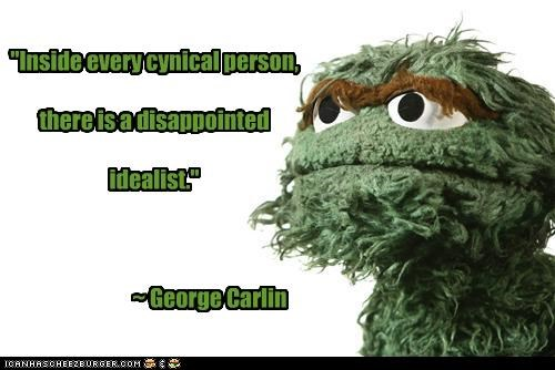 funny,george carlin,Hall of Fame,oscar the grouch,Sesame Street