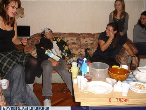 bottles,ladies,passed out