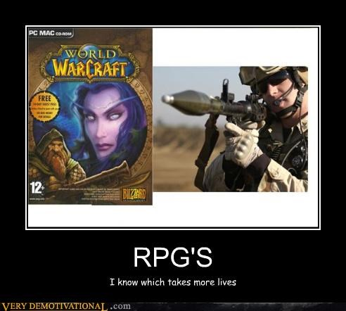 RPG'S I know which takes more lives