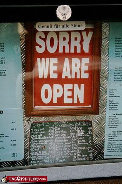 open sign sorry store - 4519515648