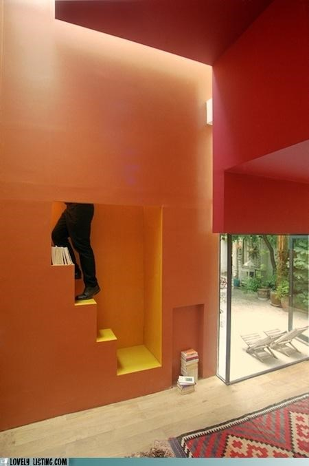 mystery orange stairs wall - 4519670016