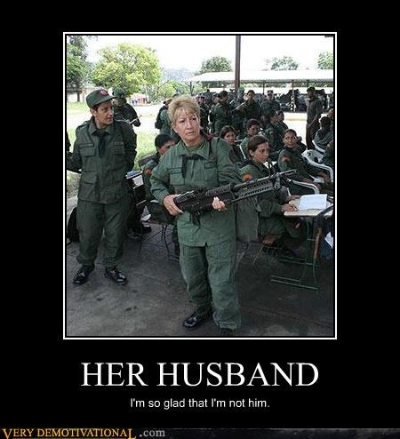 husband,wife,rifle,military