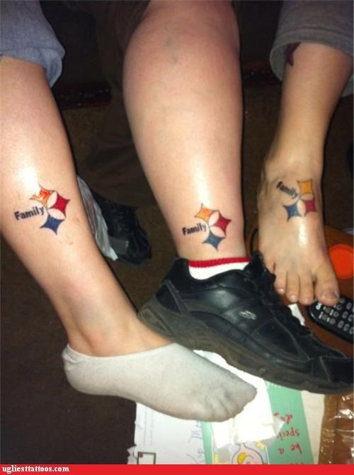 ankles,pittsburgh,tattoos,family,funny