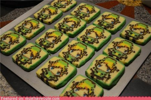 cookies,epicute,link,nintendo,pixels,video game,zelda