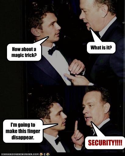 actor celeb funny James Franco tom hanks - 4520621568
