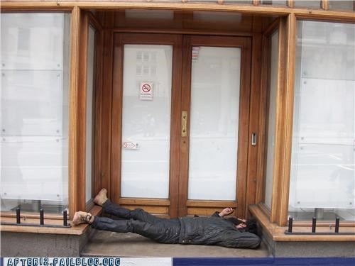 comfortable doorway passed out - 4520843776