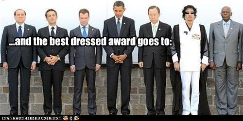Awards Ban Ki Moon barack obama Dmitry Medvedev fashion Jose Eduardo dos Santos muammar al-gadaffi Nicolas Sarkozy silvio berlusconi - 4520917504