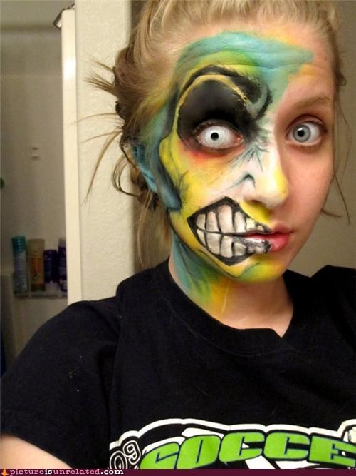 babe,makeup,monster,two face,wtf