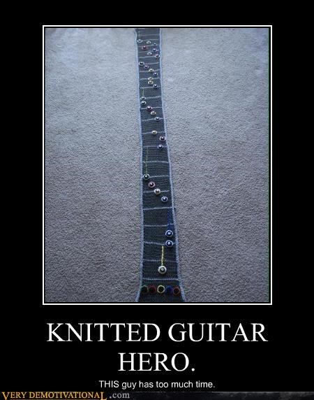 KNITTED GUITAR HERO. THIS guy has too much time.