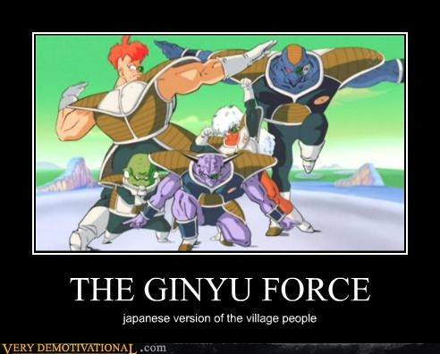ginyu force,dragonball,Japan,village people