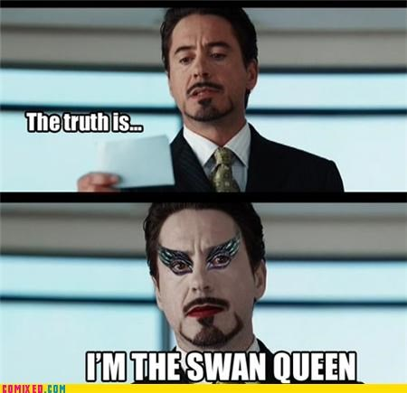 black swan,iron man,lol,robert downey jr