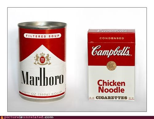 art,campbells,cigarettes,design,iconic,malboro,soup,swap,wtf