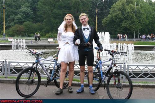 bicycle wedding bike wedding cyclists funny wedding photos outdoor wedding - 4521988352