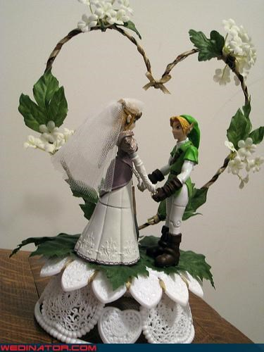 funny wedding photos gamer link nintendo the legend of zelda zelda