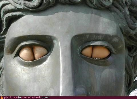 butts eyes greeks statue wtf - 4522261504