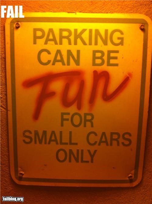 cars,compact,failboat,oddly specific,parking,sign