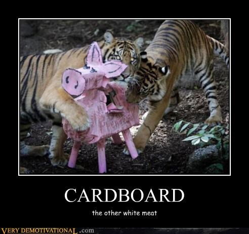 cardboard,meat,tiger,wtf,pinata