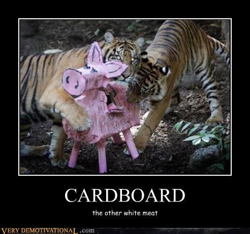 cardboard meat tiger wtf pinata - 4522417920