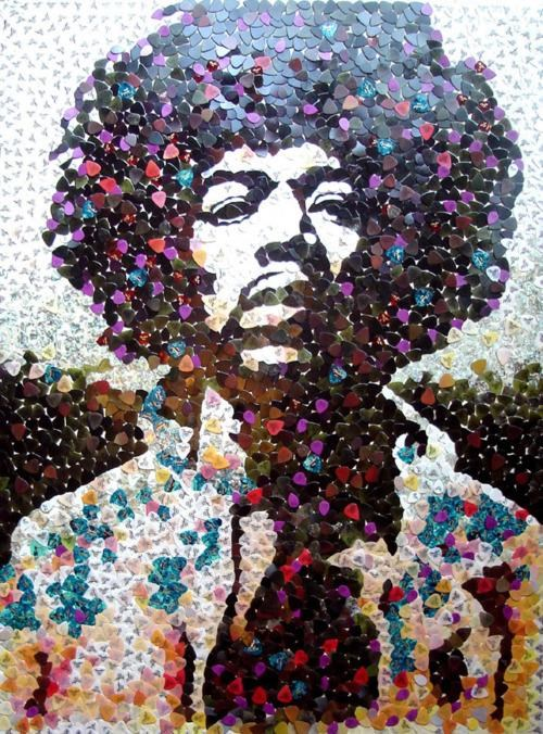 art collage Jimi Hendrix Cures Cancer - 4522755328