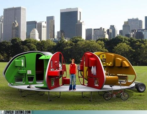 central park,fold,mock up,trailers