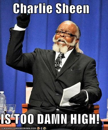 celeb Charlie Sheen jimmy mcmillan the rent is too damn high