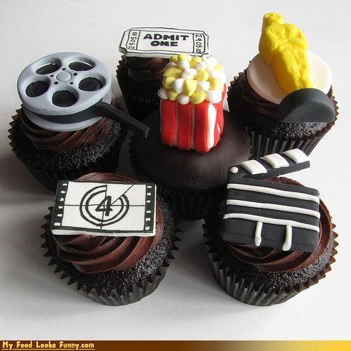 cupcakes,epicute,fondant,Movie,oscar,popcrn,ticket