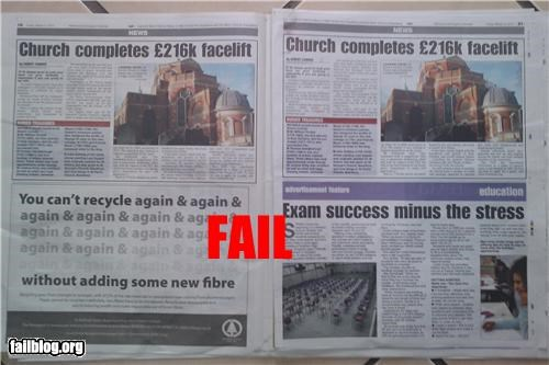 editing embarrassing failboat g rated newspaper oops Probably bad News - 4524381440