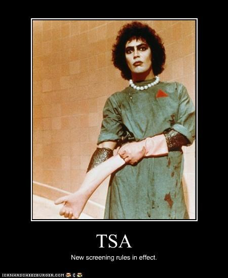 TSA New screening rules in effect.