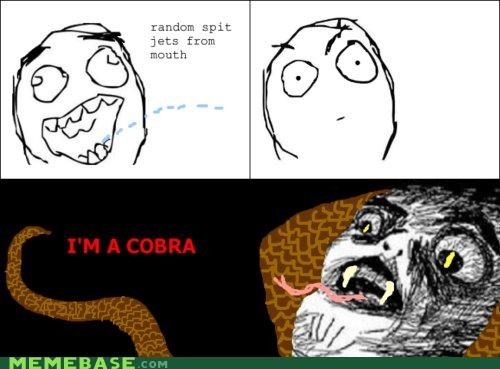 animemes cobra gleek Rage Comics raisins-super-fuuuu snake spit